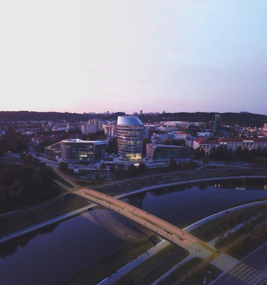 Alberto tiltas (arch. A. Neniškis, A.Baldišiūtė, G.T.Gylytė, S.Daugėlienė, I.Uogintas; PV J.Petkevičius)