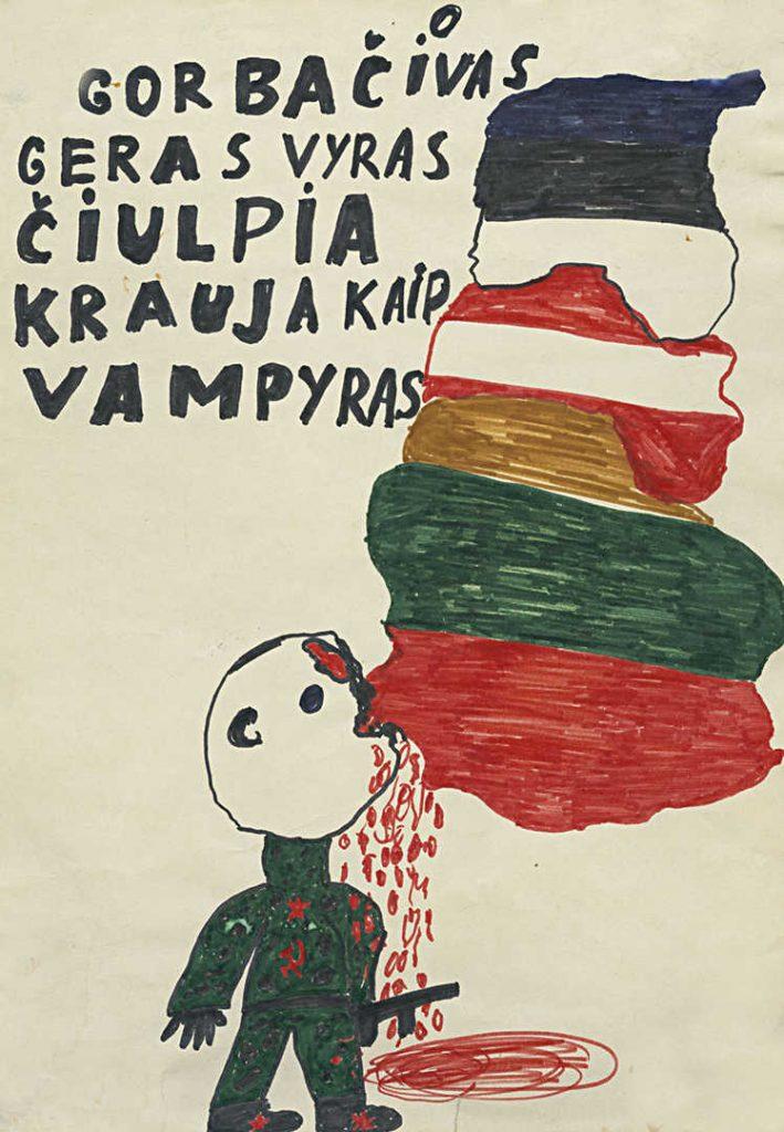 Sausio 13-oji vaikų akimis. Autorius nežinomas. Lietuvos nacionalnis muziejus