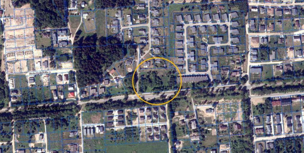Prekybos centro vieta. Pav.: Vilniaus savivaldybės.