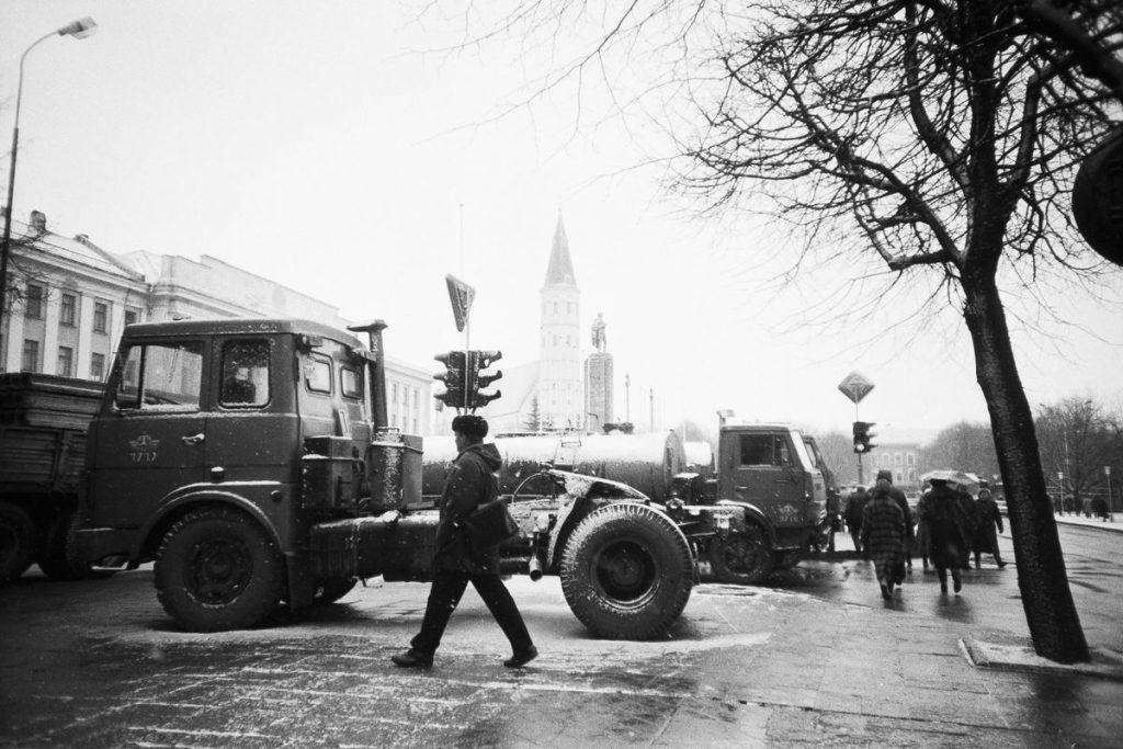1991-ųjų sausio įvykiai Šiauliuose. Foto: J.Tamulis