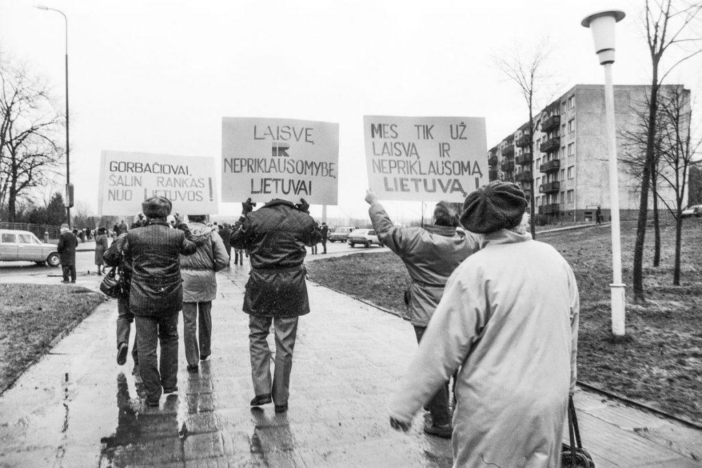 1991-ųjų sausis Šiauliuose. Foto: V.Kisielis
