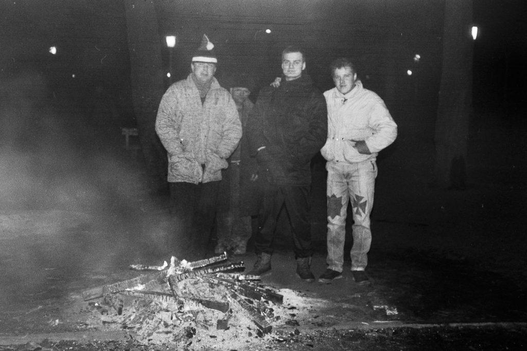 1991-ųjų sausio įvykiai Šiauliuose. Foto: V.Kisielis