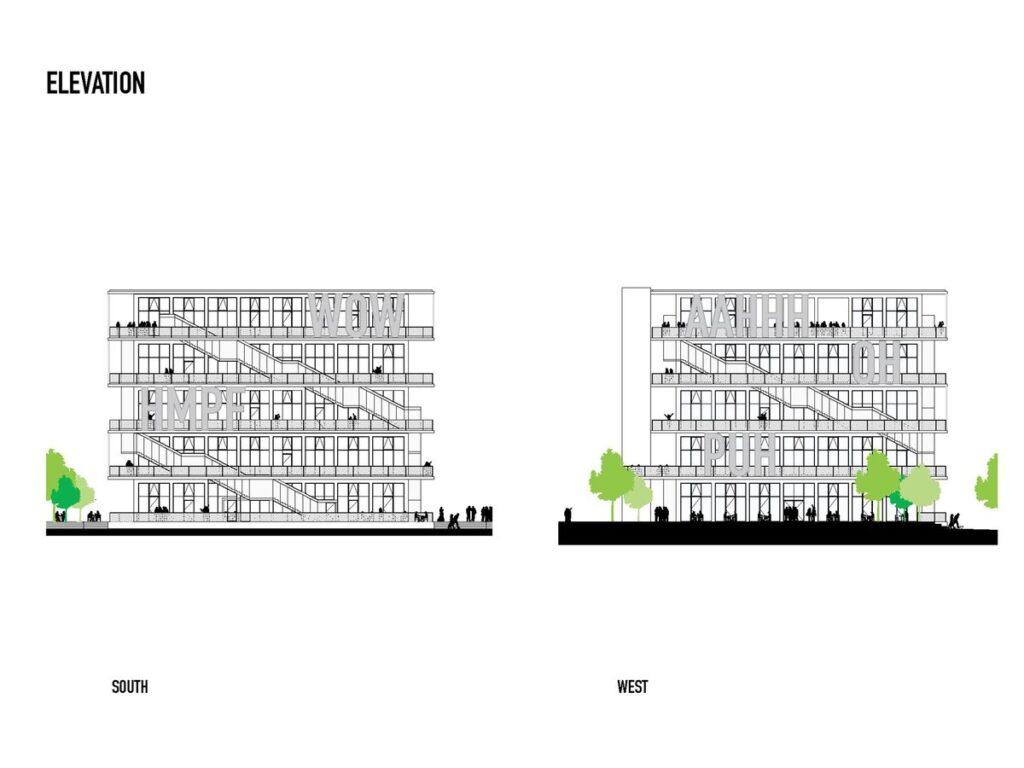 """WERK12 (arch. MVRDV su """"N-V-O Nuyken von Oefele Architekten"""" )"""
