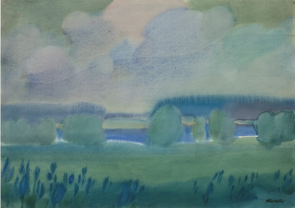 """""""Žalias peizažas"""", A.Lukštas, 1981 m."""