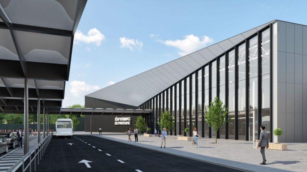 """Vilniaus oro uosto keleivių išvykimo terminalas (arch. """"Vilniaus architektūros studija"""")."""