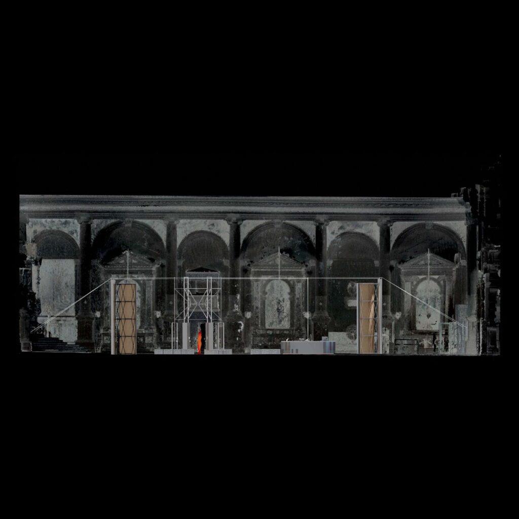 """2. Lietuvos erdvės agentūros laboratorijos pjūvis (2021) © Julijonas Urbonas ir """"Isora x Lozuraityte Studio for Architecture"""". Lietuvos erdvės agentūros vizualizacija."""