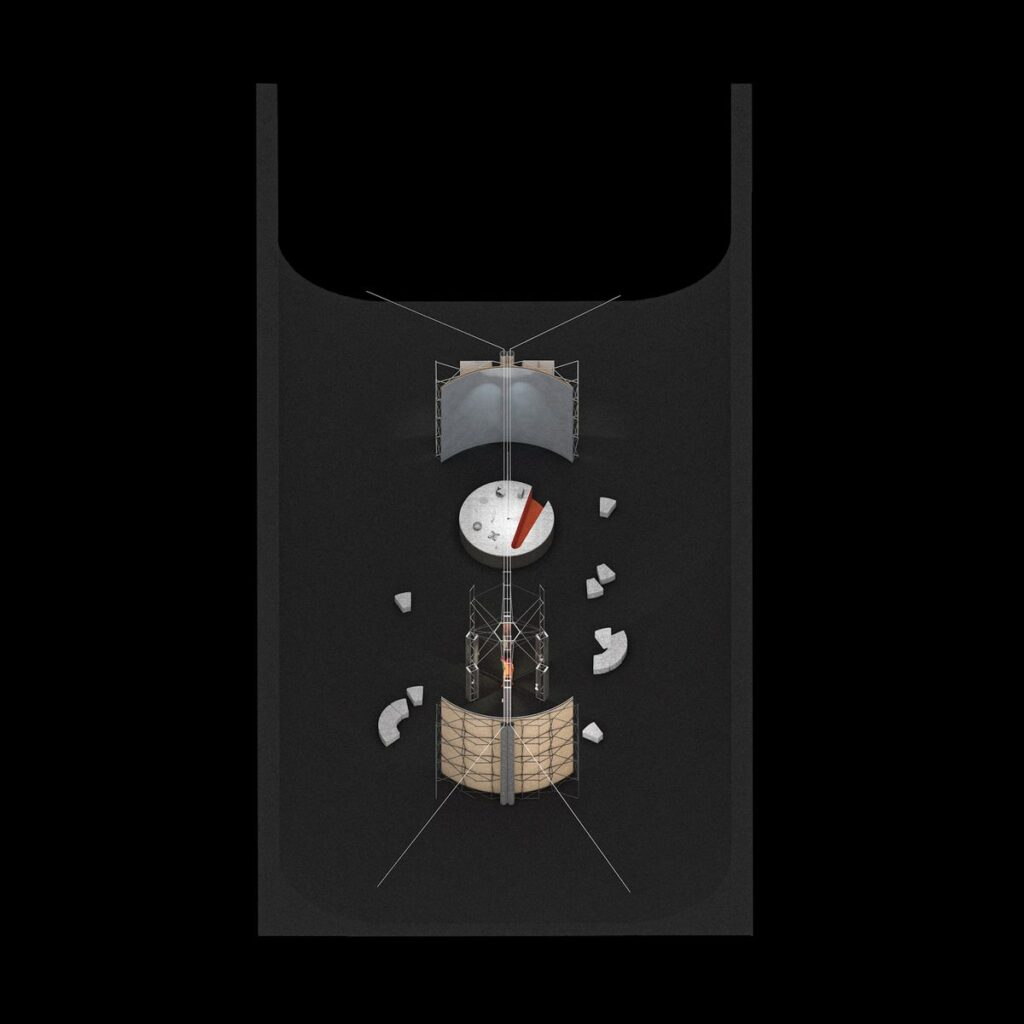 "3. Lietuvos erdvės agentūros laboratorijos planas (2021) © Julijonas Urbonas ir ""Isora x Lozuraityte Studio for Architecture"". Lietuvos erdvės agentūros vizualizacija."