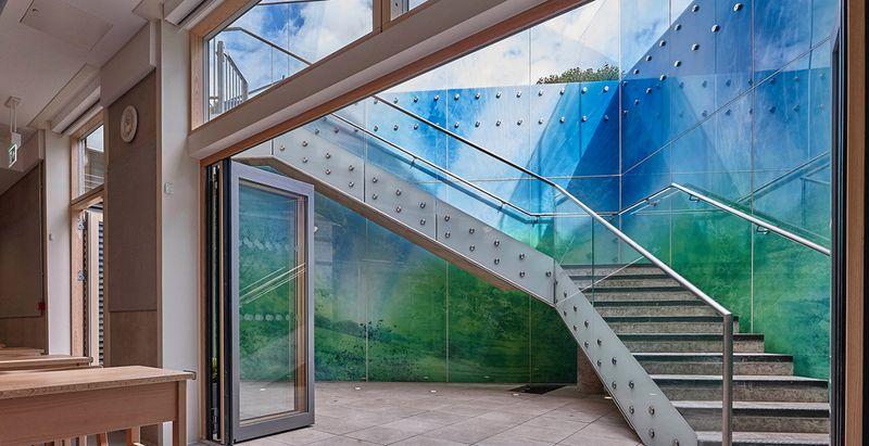 "Horsbio mokyklos ligoninė (arch. ""Dinwiddle McLaren Architects), architektūrinis stiklas – A.Moor"