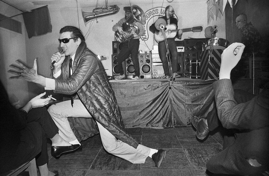 """Grupės """"Antis"""" pirmasis koncertas, R.Požerskis, 1984.12.31, Kaunas"""