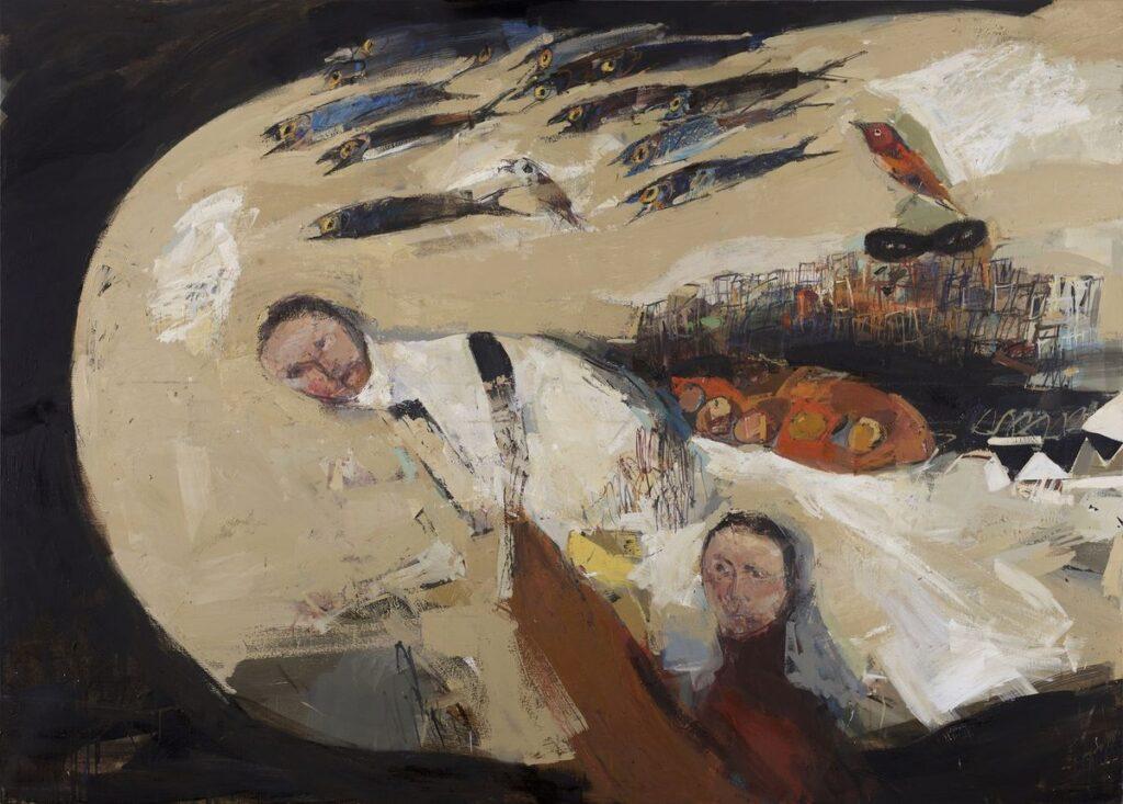 """Iš parodos """"Žmogus ir Žuvis"""", aut. Jean Pierre Ruel."""