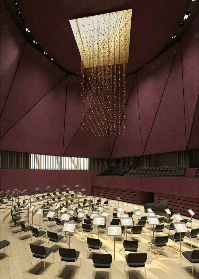 """Nacionalinė koncertų salė """"Tautos namai"""" (arch. """"Arquivio architects"""")."""