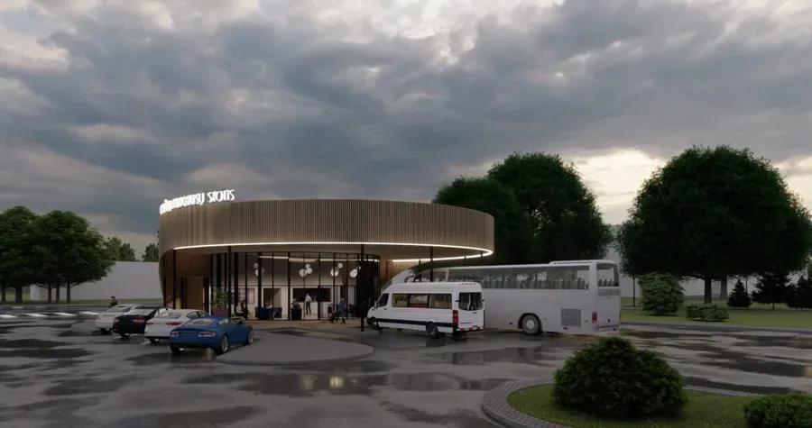"Gargždų autobusų stotis (arch. ""Progresyvūs projektai"")."