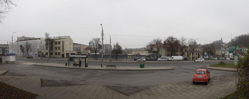 Kauno stoties turgaus teritorija yra tiesiai priešais geležinkelio stotį. Foto: konkurso vizualinės medžiagos.