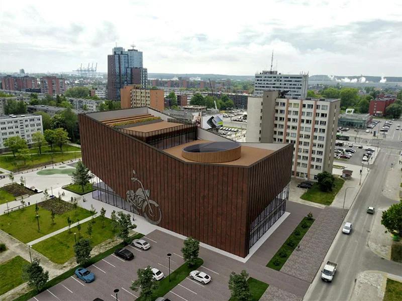 """Titulinis pav.: Motomuziejus (arch. """"Progresyvūs projektai""""."""