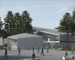 """Nidos kultūros ir turizmo informacijos centro """"Agila"""" rekonstrukcijos konkursinis projektas (arch. M.Morkūnas, V.Ūsas, V.Jankūnas, A.Uogintas),  1-oji vieta,  2012 m."""