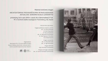Architektūriniai pasivaikščiojimai ir paveldosaugos aktualijos: skiriama Nijolei Lukšionytei