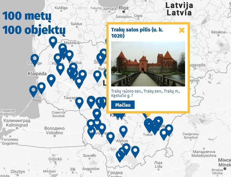 100 lankytinų kultūros paveldo objektų