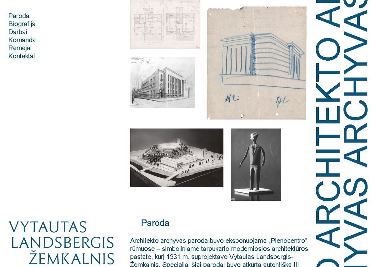 V.Landsbergio-Žemkalnio archyvas