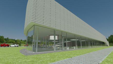 Sporto ir laisvalaikio komplekso su baseinu projektas Rudaminoje