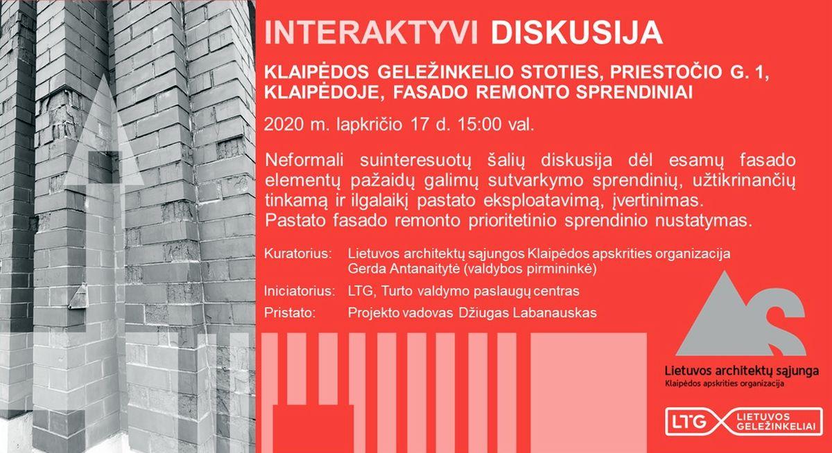 Klaipėdos geležinkelio stoties diskusija