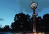 """Klaipėdos uosto radiolokacinės kontrolės sistemos bokšto Smiltynėje konkursinis projektas """"Gyvas"""" (arch. AB """"Panevėžio statybos trestas""""), 1-oji vieta."""