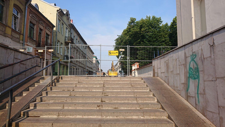 rekonstruojama Vilniaus gatvė